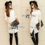 Lady Lindsey Insert Lace Cotton Long Shirt in White thumbnail 4