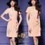 Daisy with satin texture smooth fabric lining dress thumbnail 5