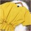 Jumpsuit ชุดจั้มสูท #จั้มสูทสีเหลือง งานผ้าคอมพ์เนื้อดี thumbnail 4