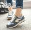 รองเท้าผ้าใบแฟชั่น N เย็บแต่งโลโก้ด้านข้าง thumbnail 4