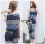 Lady Cassandra Casual Chic Striped Lace Tank Top and Pants Set L266-7911 thumbnail 9