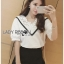 Lady Analeigh Sweet Chic Monochrome Lace and Cotton Blouse L263-6905 thumbnail 6