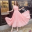 Maxi Dress ชีฟอง แต่งเอวระบายชั้น thumbnail 4