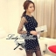 DR-LR-038 Lady Petra Timeless Chic Polka Dots Long-Sleeved Dress thumbnail 3
