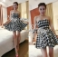 DR-LR-132 Lady Nicole Sexy Glam Strapless Houndstooth Dress thumbnail 6
