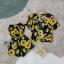 เซ็ต 2 ชิ้น จั้มสูทเกาะอกผ้าสปันพิมพ์ลายดอกทานตะวัน thumbnail 4