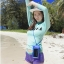 SM-V1-537 ชุดว่ายน้ำแขนยาว เสื้อสีเขียว สกรีนอักษร Shark กางเกงขาสั้นสีม่วง thumbnail 9