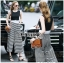 Lady Celina Minimal Chic Cropped Top and Striped Pants Set L259-7918 thumbnail 3