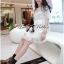 Lady Grace Pretty Floral Embroidered Sheer Tulle Dress in White thumbnail 10