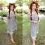Maxxi Dress สายแต่งดอกไม้ ทรงปาดไหล่ thumbnail 6