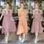 Dress เดรสคอกลมติดกระดุมหลัง 1 เม็ด แขนกุดระบาย thumbnail 1