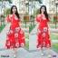 Maxi Dress แมกซี่เดรสยาว คอวี งานพิมพ์ลายดอกดอกไม้ thumbnail 5