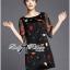 DR-LR-292 Lady Dree Monochrome Heart-Shaped Print Mini Dress thumbnail 8