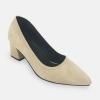 รองเท้าส้นตึก ไซส์ใหญ่ 41-46 หนังนิ่ม สีน้ำตาล รุ่น KR0655