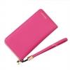 กระเป๋าสตางค์ใบยาว KQeenstar L สีชมพูเข้ม