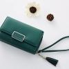 กระเป๋าสตางค์ใบกลาง Just For You M Classic สีเขียว