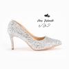 รองเท้าคัชชูส้นเตี้ยไซส์ใหญ่ 39-44 EU Glitter Party งานยุโรป จากแบรนด์ Chowy รุ่น CH0143