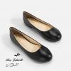 รองเท้าส้นแบนไซส์ใหญ่ 39-46 Flat Black Matte รุ่น CH0138