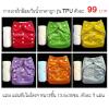 กางเกงผ้าอ้อมกันน้ำ TPU สีพื้น+แผ่นซับไมโครฯ