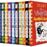 Jeff Kinney : Diary of a Wimpy Kid 12 Books Collection เซตบันทึกของวิมปีคิด 12 เล่ม รวมเล่มใหม่ Old school, Double Down