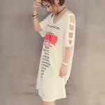 เสื้อสาวอวบ เสื้อตัวยาว คนอ้วน ไซส์ใหญ่ 4XL รหัส FF0161