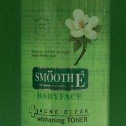 Smooth E Babyface Acne Clean Whitening Toner 150 ml