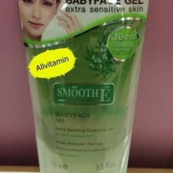 Smooth E Babyface Gel สูตร Extra Sensitive Cleansing 5.5 Oz