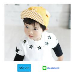 HT359••หมวกเด็ก•• / หมวกแก็ปมือมิกกี้ (สีเหลือง)
