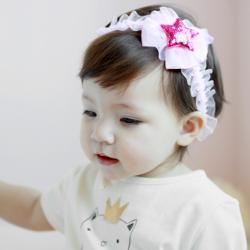 HB089••ที่คาดผมเด็ก•• Pink Star