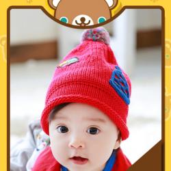 HT258••หมวกเด็ก•• / Star [สีแดง]