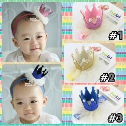 HB067••ที่คาดผมเด็ก•• มงกุฎ (มี 3 สี)