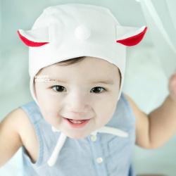 HT171••หมวกเด็ก•• / หมวกนักบิน (สีขาว)