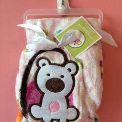 BK079••ผ้าห่มเด็ก•• / ลายหมี (นาโน)