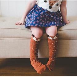 SK058••ถุงเท้าเด็ก•• สุนัขจิ้งจอก มี 2 ไซส์ (ข้อยาว)