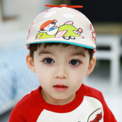 HT521••หมวกเด็ก•• / หมวกเบเร่ต์-ลิงขับเครื่องบิน [สีเบจ]