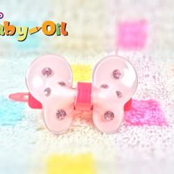 HP013••กิ๊บติดผมเด็ก•• / ผีเสื้อคริสตัล
