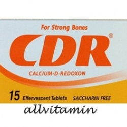 CDR Calcium D-Redoxon ซีดีอาร์ แคลเซี่ยมเม็ดฟู่ รสส้ม