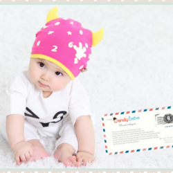 HT401••หมวกเด็ก•• / หมวกบีนนี่-เลขคู่ (สีชมพู)