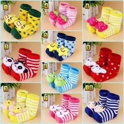 SK028••ถุงเท้าเด็ก•• ถุงเท้า 3 มิติ (มี 10 ลาย)
