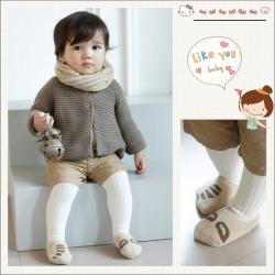 SK012••ถุงเท้าเด็ก•• แรคคูน (สีน้ำตาลอ่อน-ข้อสั้น)