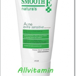 Smooth E Acne Extra Sensitive Cleansing Gel 4 Oz