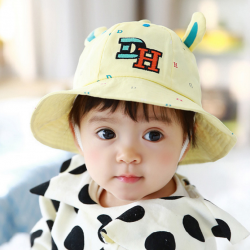 HT485••หมวกเด็ก•• / หมวกปีกกว้าง-DH (สีเหลือง)
