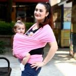 เป้ผ้าอุ้มเด็ก Moby Wrap - สีชมพู
