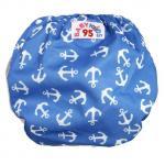 Swim nappy Size 7-14 kg. ผ้าอ้อมว่ายน้ำ ซักได้ -น้ำเงิน สมอเรือ
