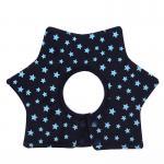 ผ้ากันเปื้อนเด็ก สีน้ำเงินลายดาวหกแฉก