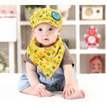 หมวก+ผ้ากันเปื้อนเด็ก สีเหลือง