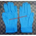 ถุงมือไนไตรสีฟ้าแบบไม่มีแป้ง (Food Grade)