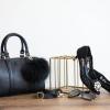 """KEEP Speedy 10"""" leather Pillow bag หนังเรียบ สีดำ สวย น่ารัก"""