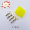 Molex (ตัวผู้) เหลือง UV +ไส้ pin