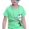 เสื้อยืดเด็กเล็กสีเขียว Panda มีกระดุมข้างคอ Size 0-1y/1-2y/2-3y สำหรับเด็กวัย 0-3 ปี